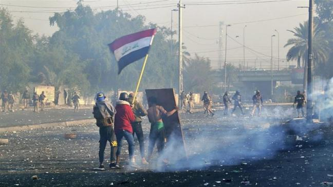 Anti-government protests continue throughout Southern Iraq